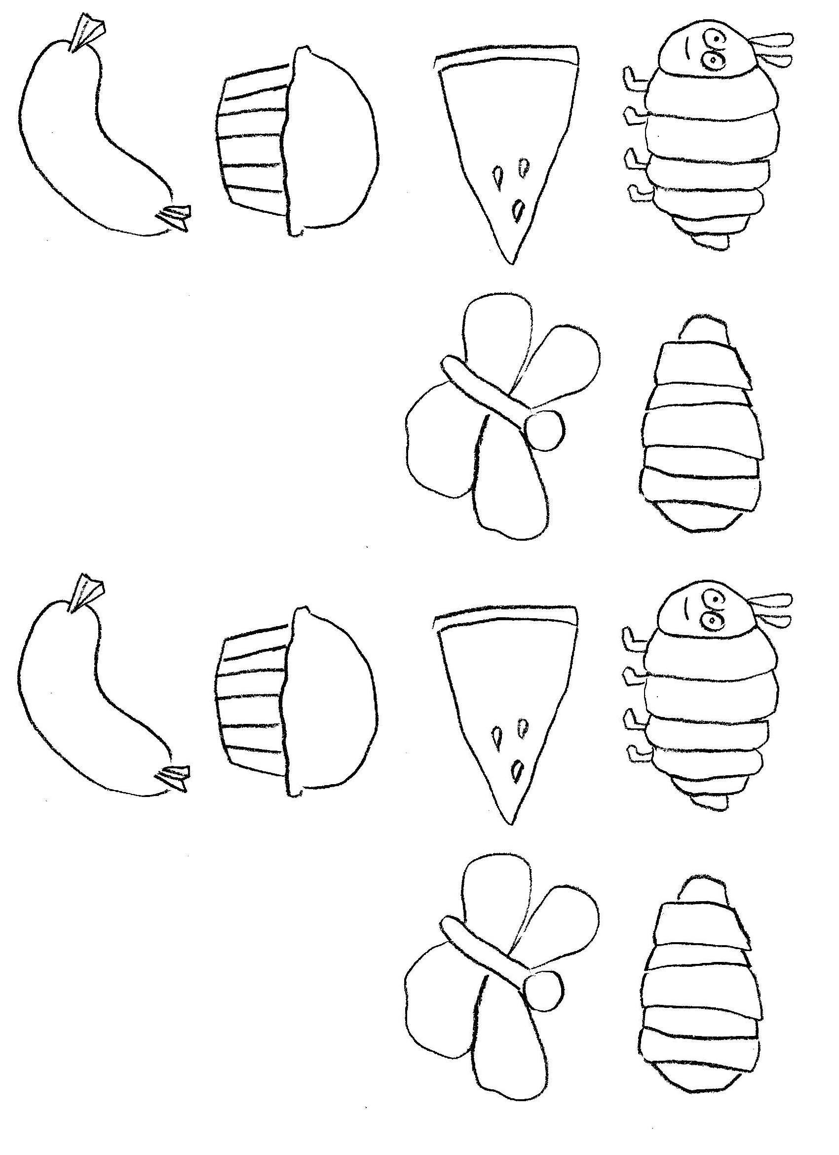 hungry caterpillar coloring pages - photo#23