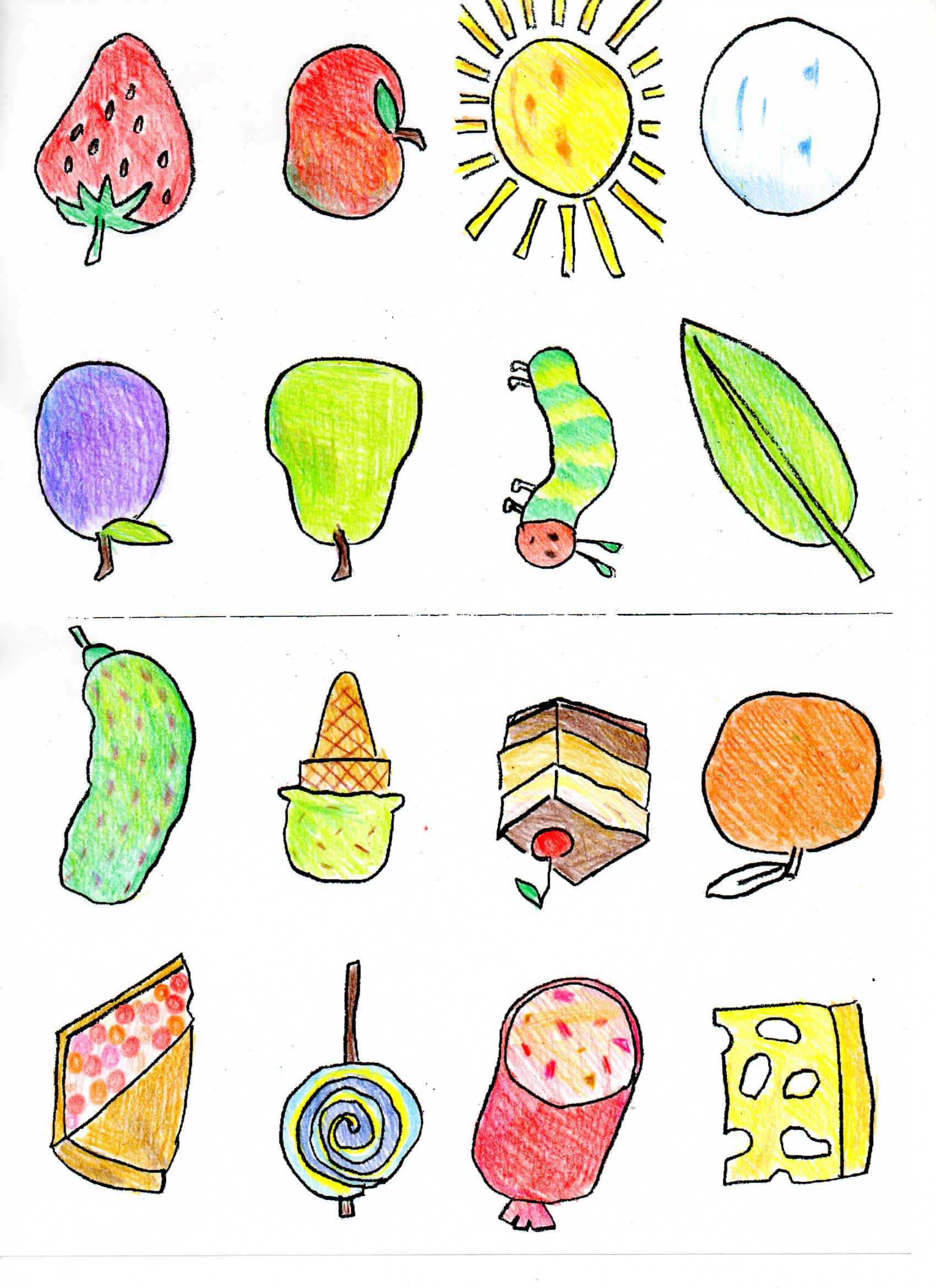 It's just a graphic of Declarative The Very Hungry Caterpillar Printable Book