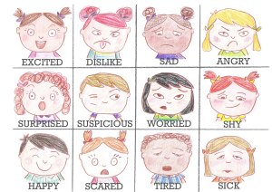 emotions memory color words