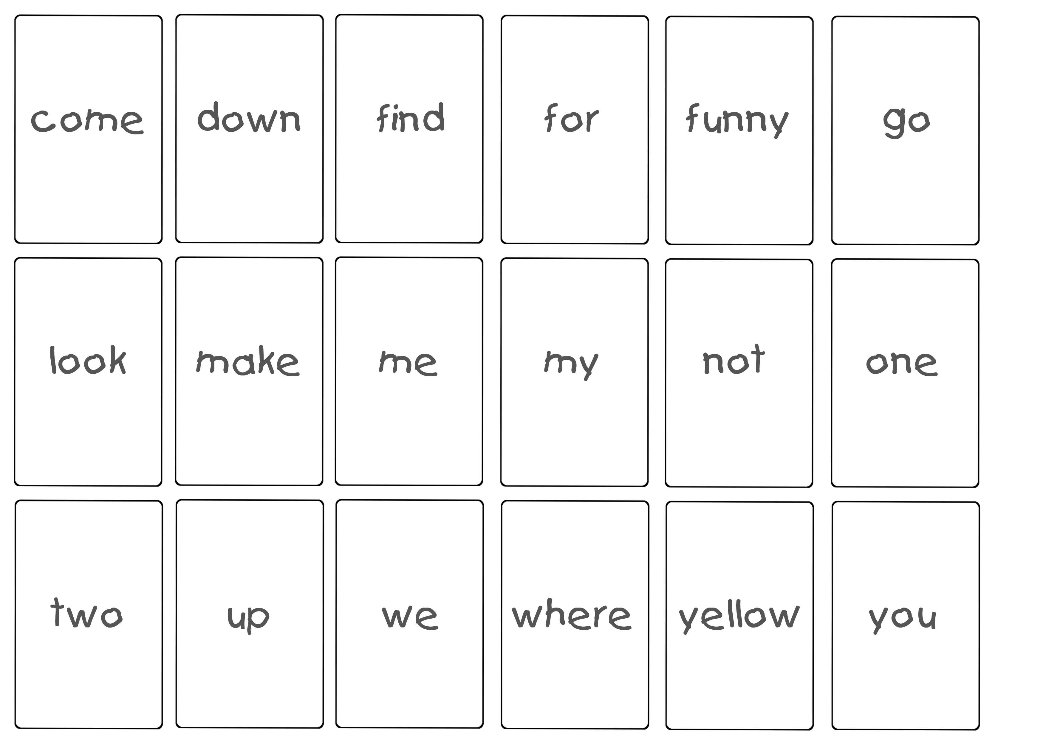 Dolch Words List Pre-Primer | ARTiculation360