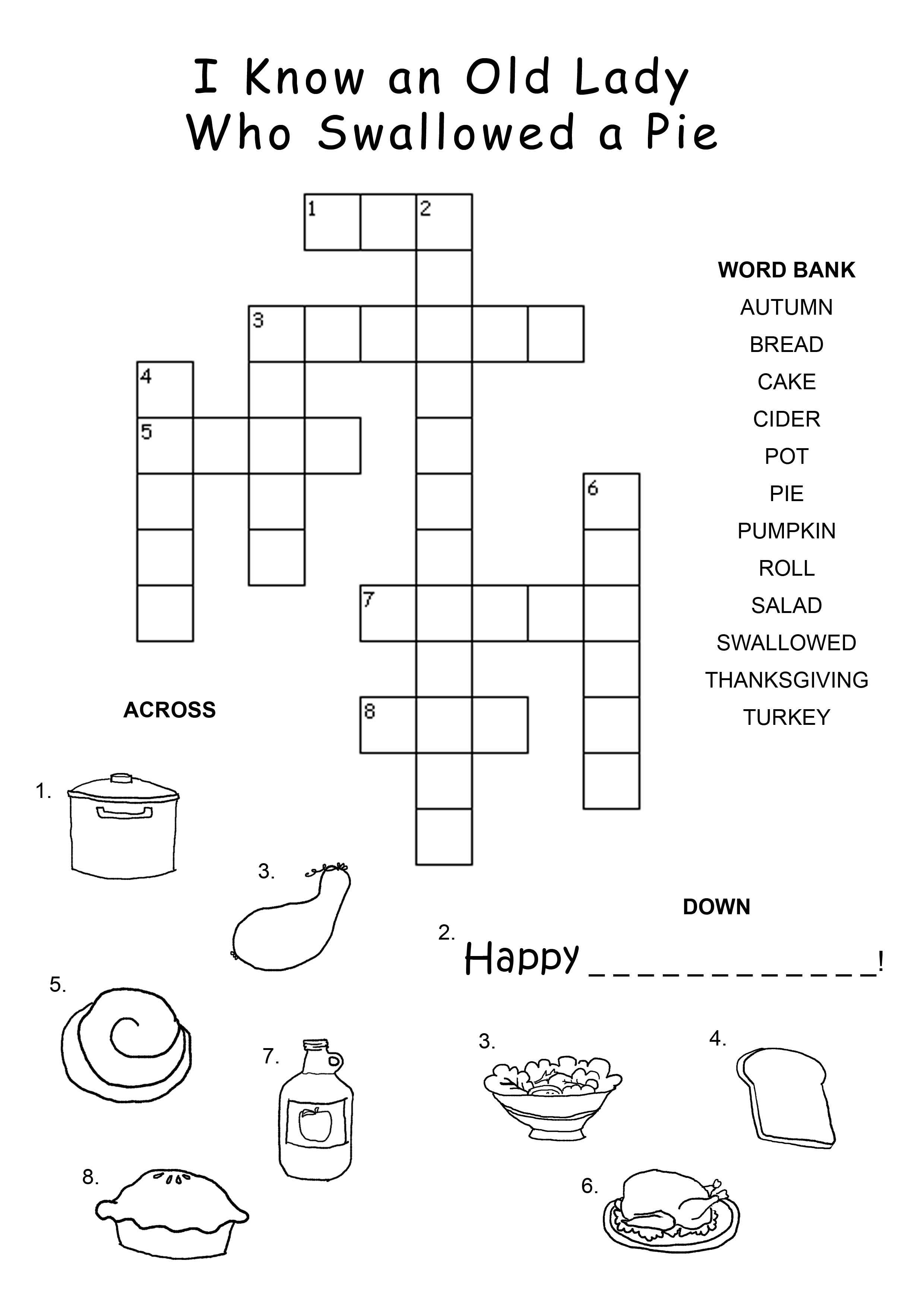 Easy Animal Crossword Puzzles Crossword puzzle: